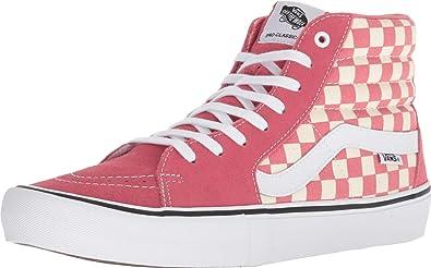 vans checkerboard rosa