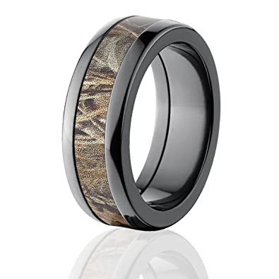 realtree max 4 camo rings camo bands camouflage wedding rings - Camouflage Wedding Rings