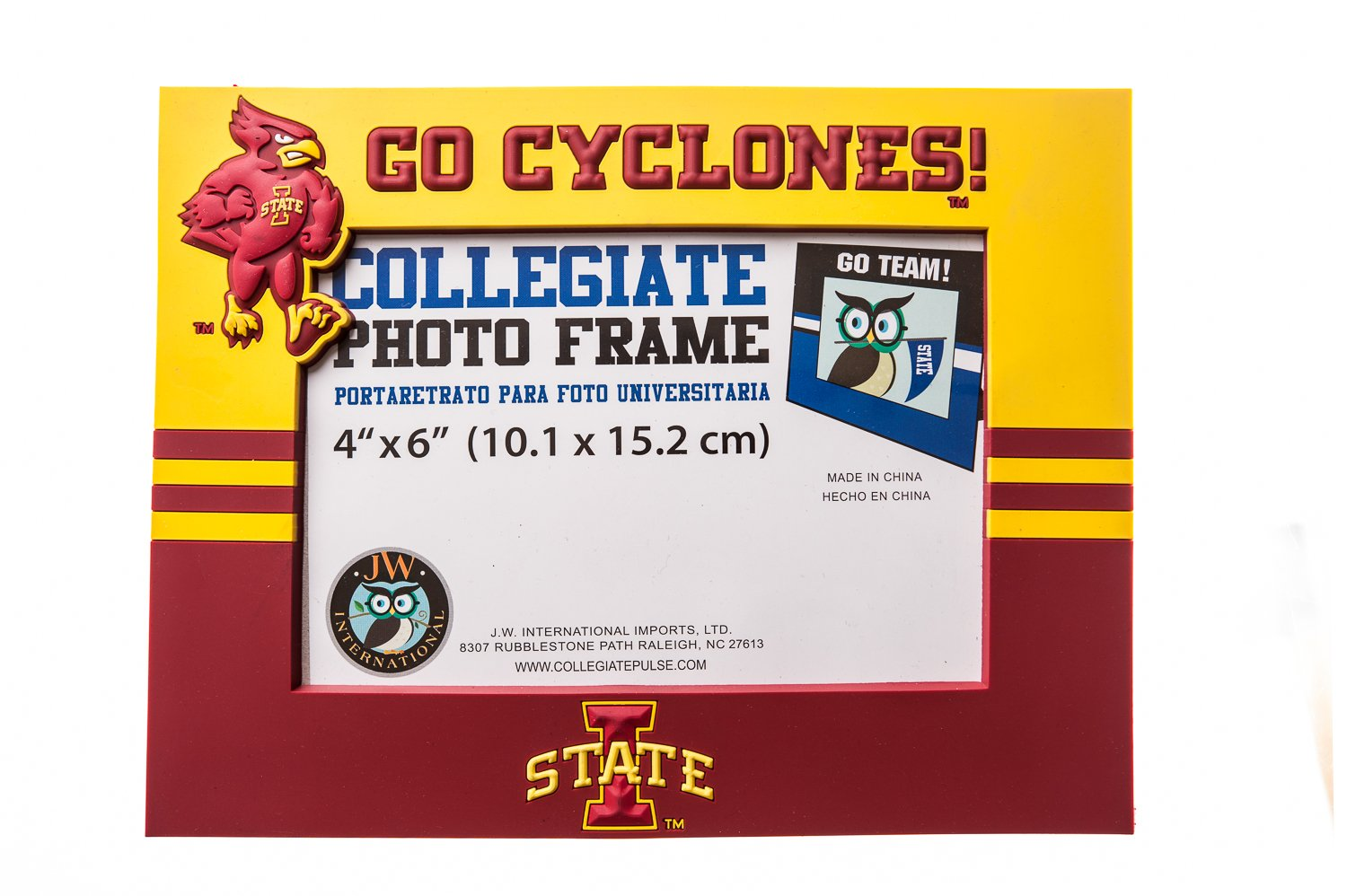 Amazon.com : Collegiate Pulse IOWA STATE CYCLONES NCAA PVC PHOTO FRAME : Sports & Outdoors