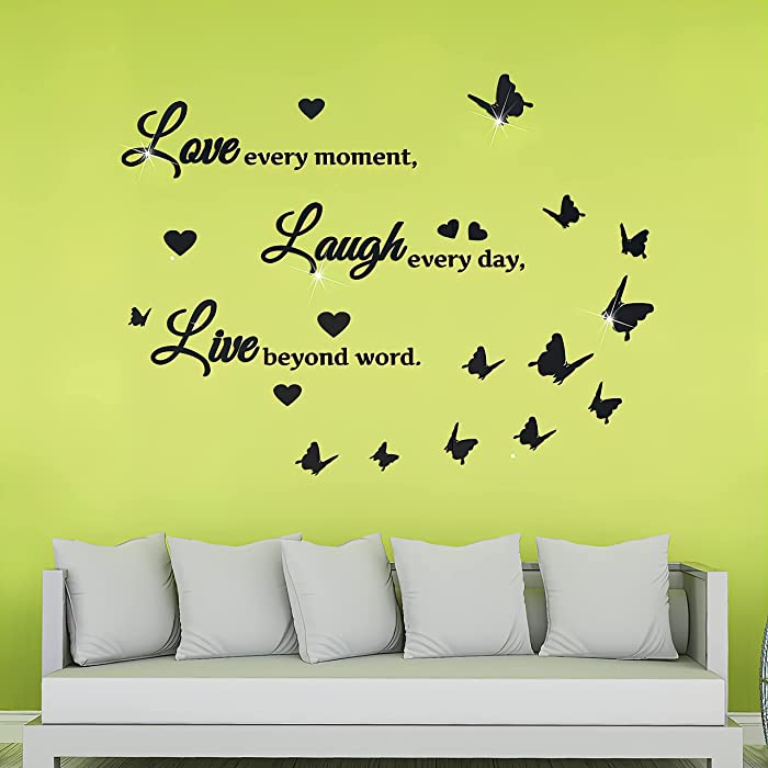 The Best Live Laugh Love Wall Decor 3D Stickers