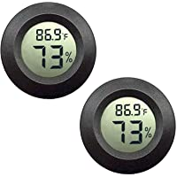 JEDEW 2-Pack Mini Hygrometer Thermometer Digital LCD Monitor Indoor Outdoor Humidity Meter Gauge for Humidifiers…