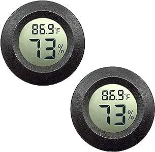 Cablegia 4 Pack Mini Digital Electronic Temperature Humidity Meters