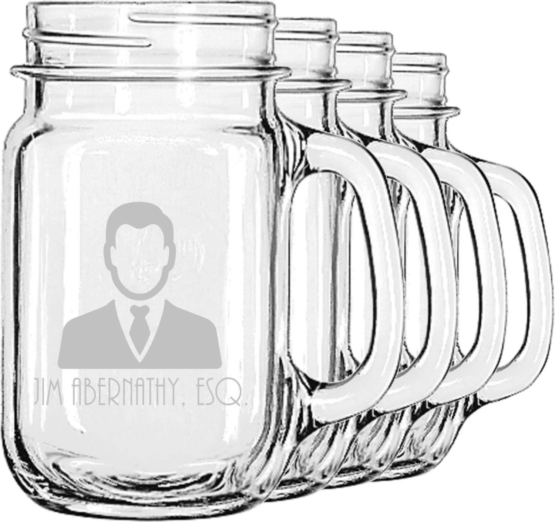 Lawyer/Attorney Avatar Mason Jar Mugs (Set of 4) (Personalized)
