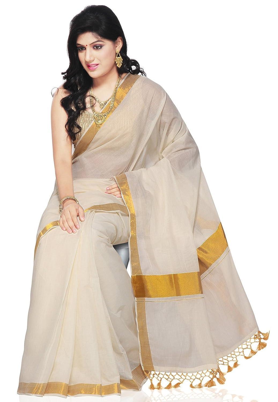 Utsav fashion shopping bag - Utsav Fashion Women S Off White Cotton Kerala Kasavu Saree With Blouse Amazon In Clothing Accessories