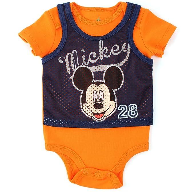 Amazon.com: Mickey Mouse niños body de manga corta, Pinnie ...