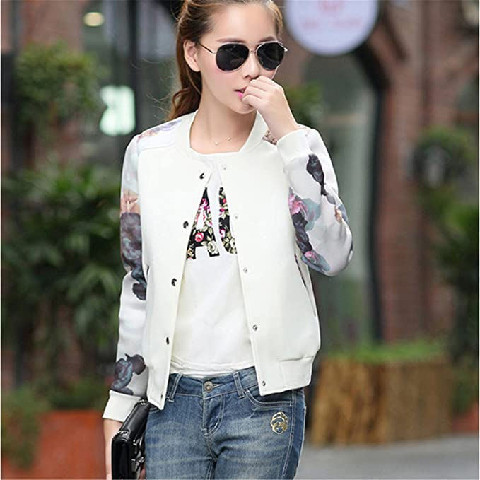 4a3370a8a39ebe Image Unavailable. Image not available for. Color  YouzhiWan007 New Women  Jacket Tops Flower Print Girl Plus Size ...