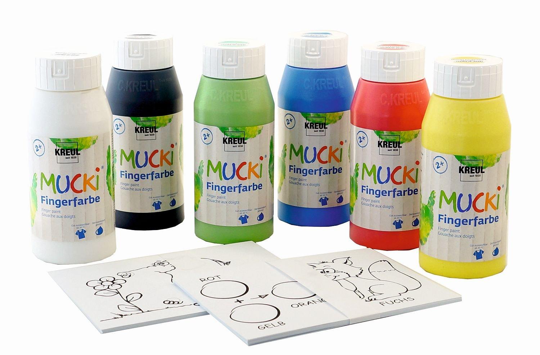 Kreul 29150 - Mucki Fingermalfarben Power Pack Zeig mir die Welt der ...