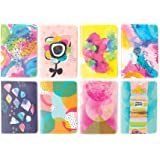 "OOLY 118-163 Pocket Pal Journal Pack of 8, (3.5"" x 5"") - Abstract"