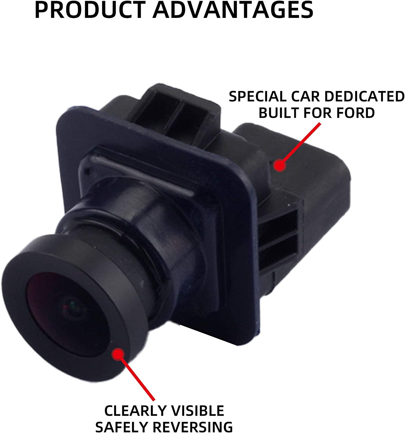 Dasbecan Rear View Back Up Assist Camera Compatible with Ford F-150 2012 2013 2014 Replaces# EL3Z-19G490-D