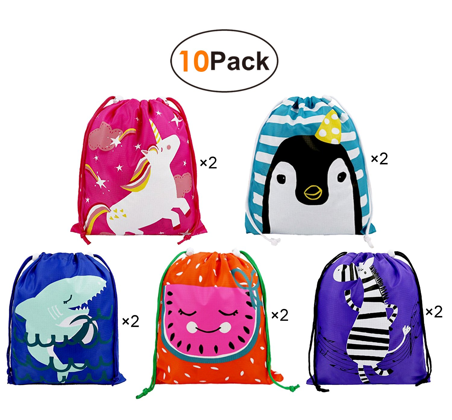 Party Bags Kids Birthday Favours Gift 10 Pack Ideas Candy Drawstring Pouch Goodie For Children Girls Boys Toddlers