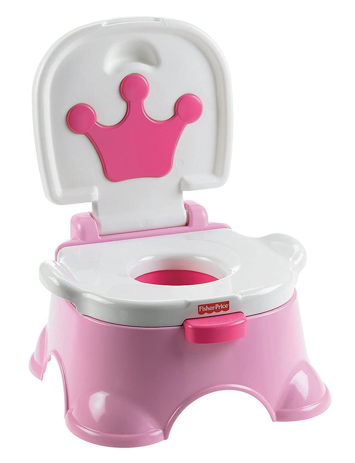 Amazon.com  Fisher-Price Pink Princess Stepstool Potty  Toilet Training Potties  Baby  sc 1 st  Amazon.com : potty chair step stool - islam-shia.org