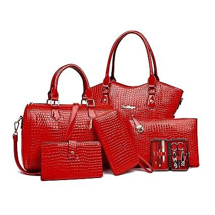 a92994b00192 Amazon.com  6PCS Set Elegant Women Composite Bag Fashionable Female Single Shoulder  Bag  MP3 Players   Accessories