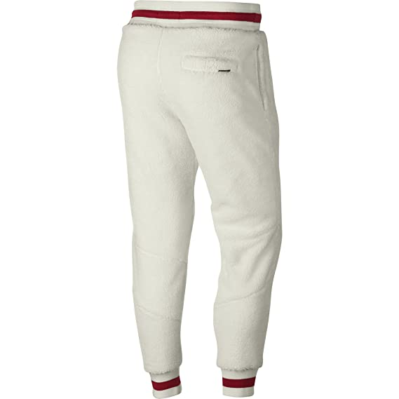 online store e517d cb488 Jordan Air Retro 1 Shearling Fleece Men s Sportswear Pants Sail Gym Red  ah7911-133 ...