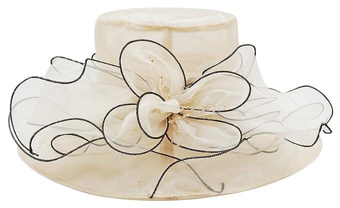 Bellady Women Floral Wide Brim Tea Party Wedding Hats Church Derby Kentucky  Dress Cap fb6834bff9d5