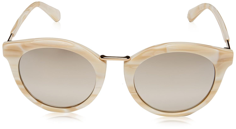 fe1c757608 Amazon.com  Kate Spade Women s Joylyn s Round Sunglasses White 50 mm   Clothing