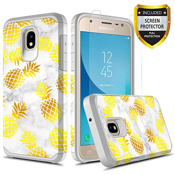 buy popular ffaf2 9672b GORGCASE Samsung Galaxy J3 2018 Cute Case,J3 Eclipse 2/J3 Orbit/J3  Achieve/Express Prime 3/J3 Prime 2/Amp Prime 3 with Screen Protector,Slim  Teen ...