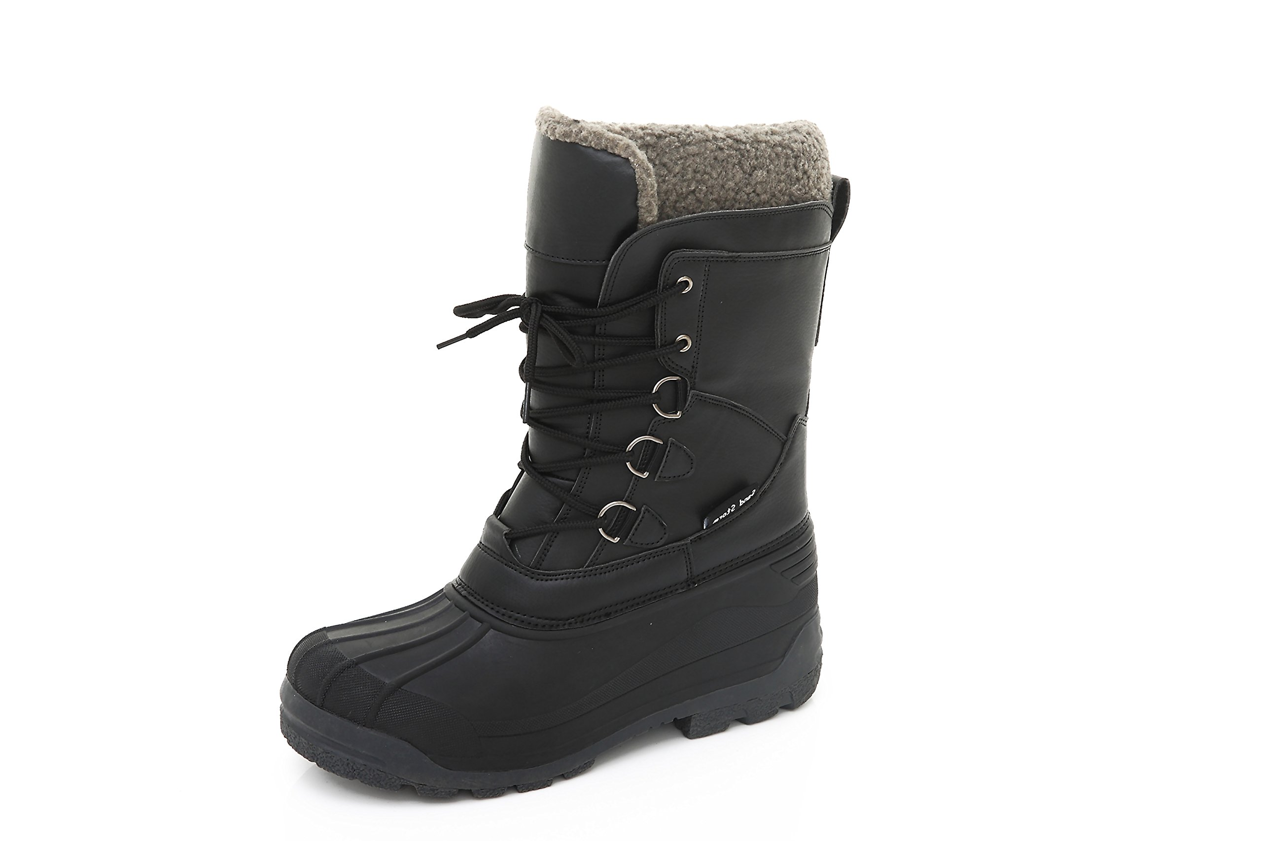 Womens Insulated Winter Snow Boots - Lace-Up Closure Comfortable Weatherproof Warm Ladies