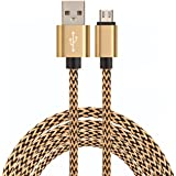 ULTRICS® Micro USB Cable, Fastest Durable Charging Data Lead with Metal Shell, Nylon Braided & 10000+ Bend Lifespan for Samsung Galaxy, Nokia, Nexus, Sony, One Plus, Android Smartphones, Tablets - 1M