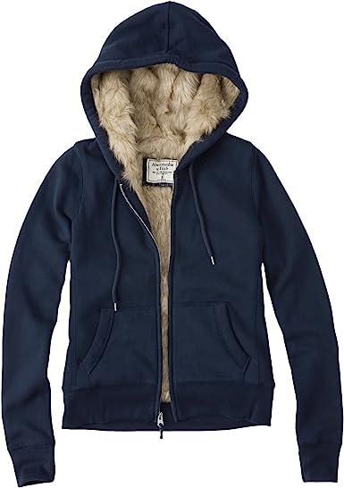 Abercrombie Femme Faux Fur Lined Hoodie Sweat à Capuche