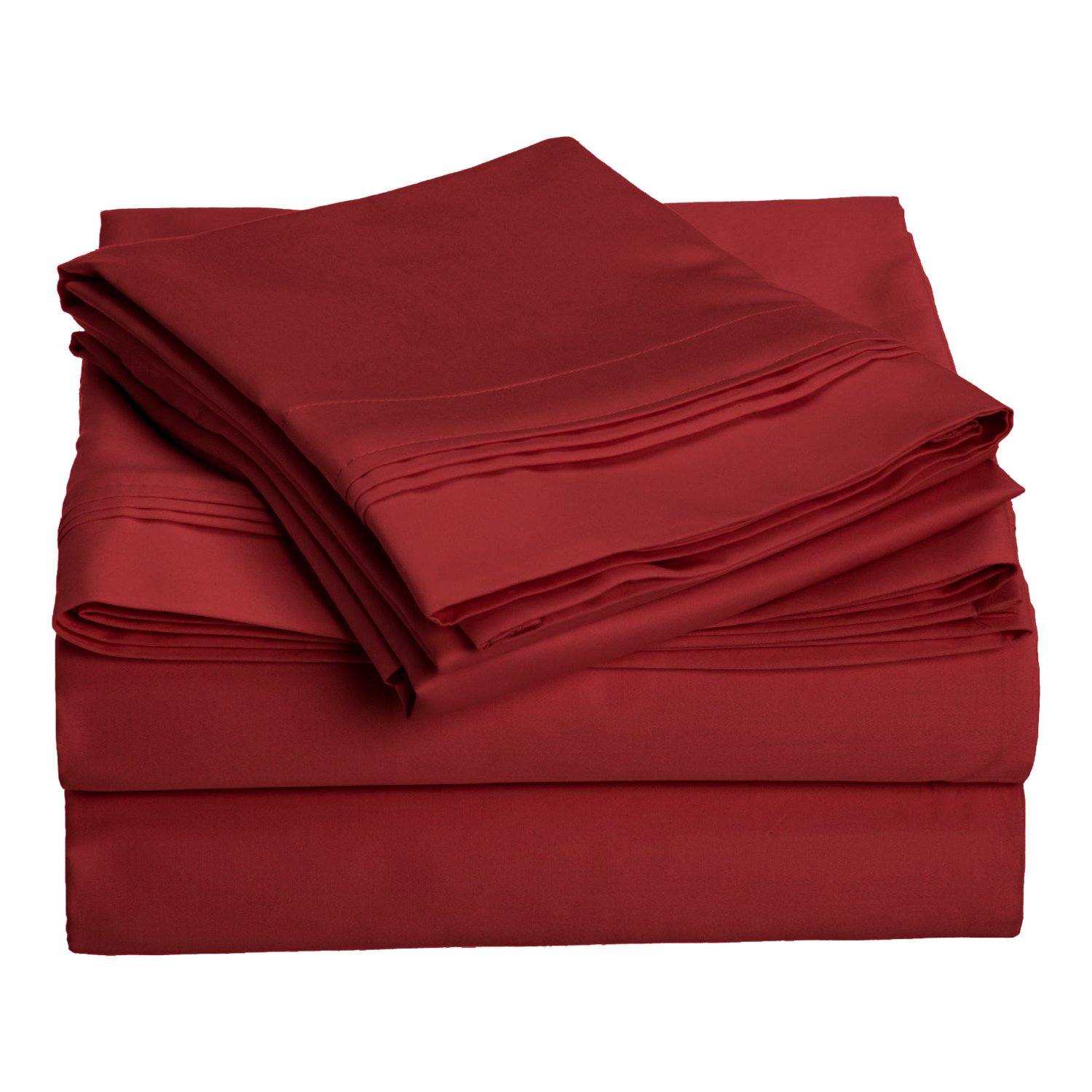 Burgundy California King 1000 Thread Count 100% Egyptian Cotton, King Bed Sheet Set, Single Ply, Solid, Light bluee