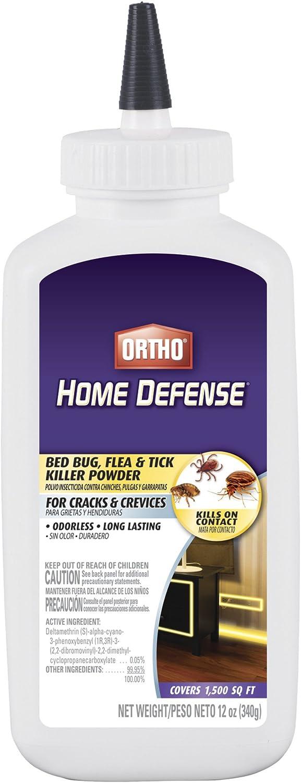 Ortho Home Defense Bed Bug, Flea & Tick Killer Powder