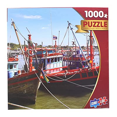 Seaside Fishing Boats by Nuzaa 1000 Piece Puzzle: Toys & Games