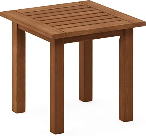 Furinno FG18506 Tioman Hardwood Patio Furniture Outdoor End Table