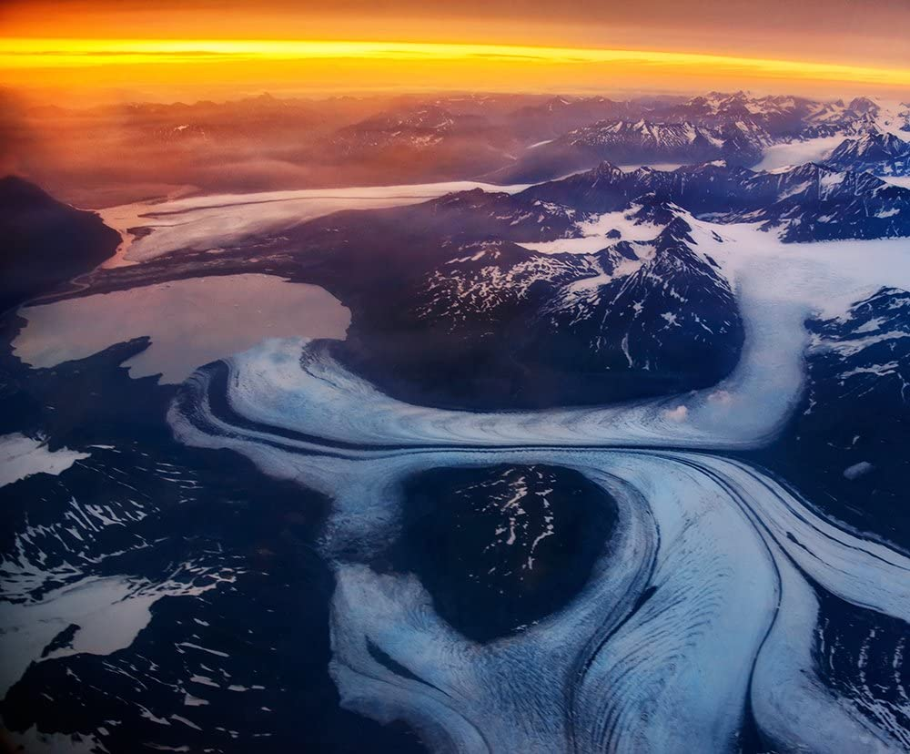 Photos.com by Getty Images Antena View de Glacier Póster ...
