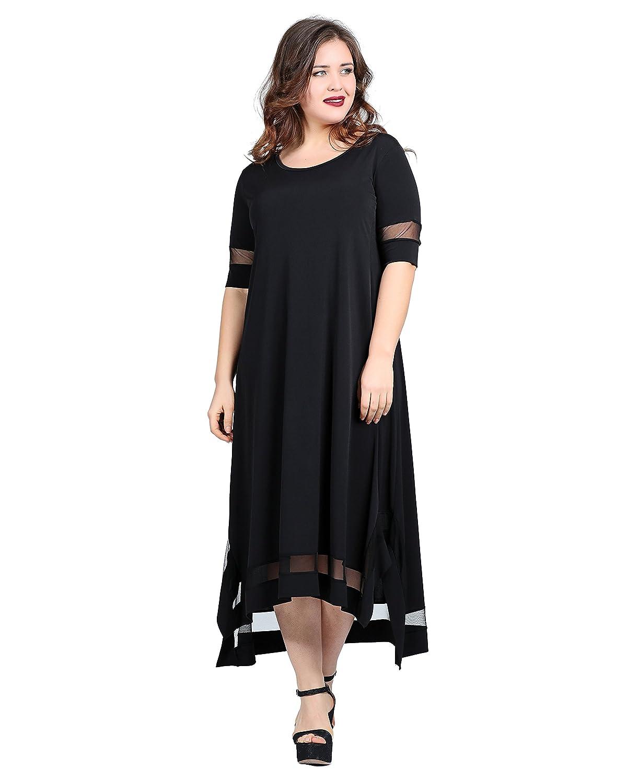 Damen Abendkleid Sommerkleid Casual Elegant auch Große Größen, Kleid ...