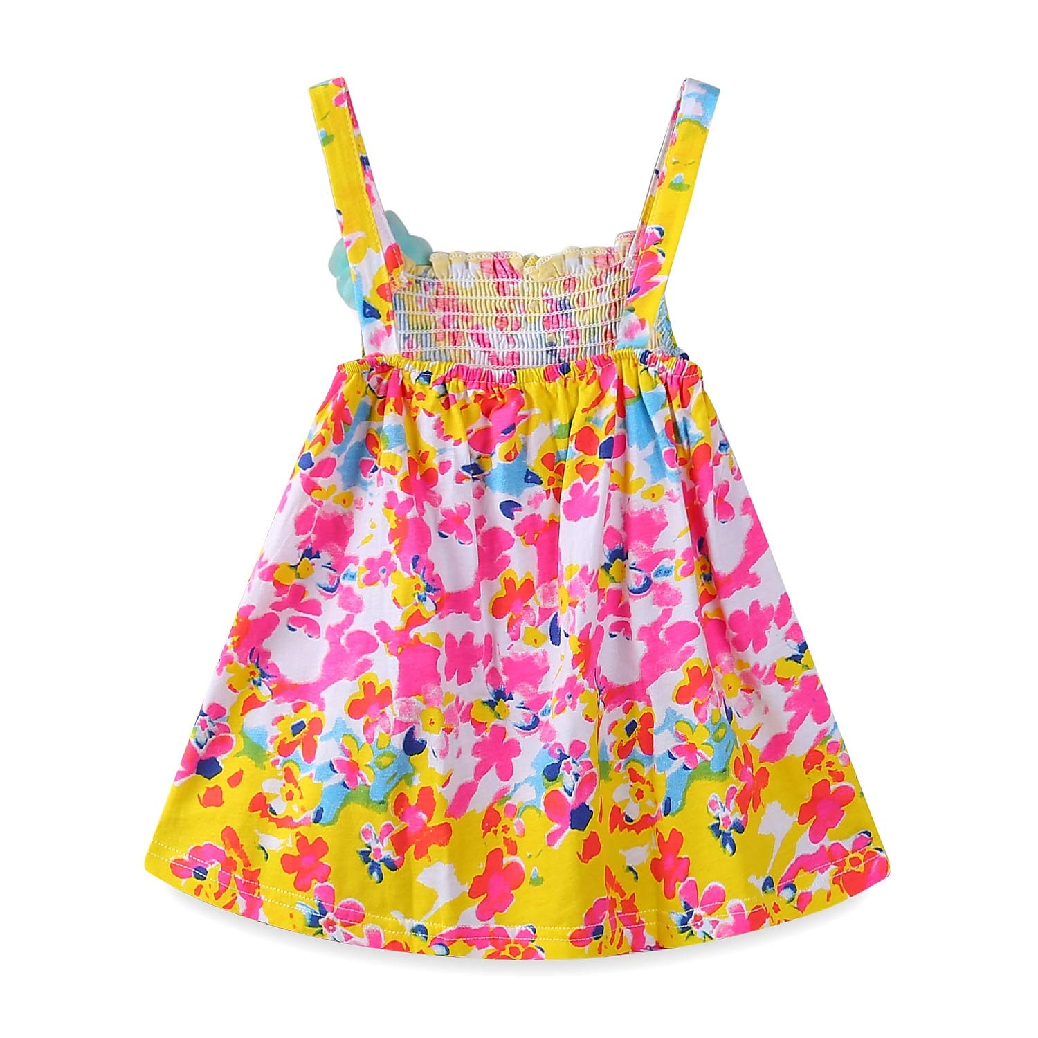 18fadb8077 Amazon.com  Mud Kingdom Baby Girl Clothes Summer Floral Slip Dresses   Clothing