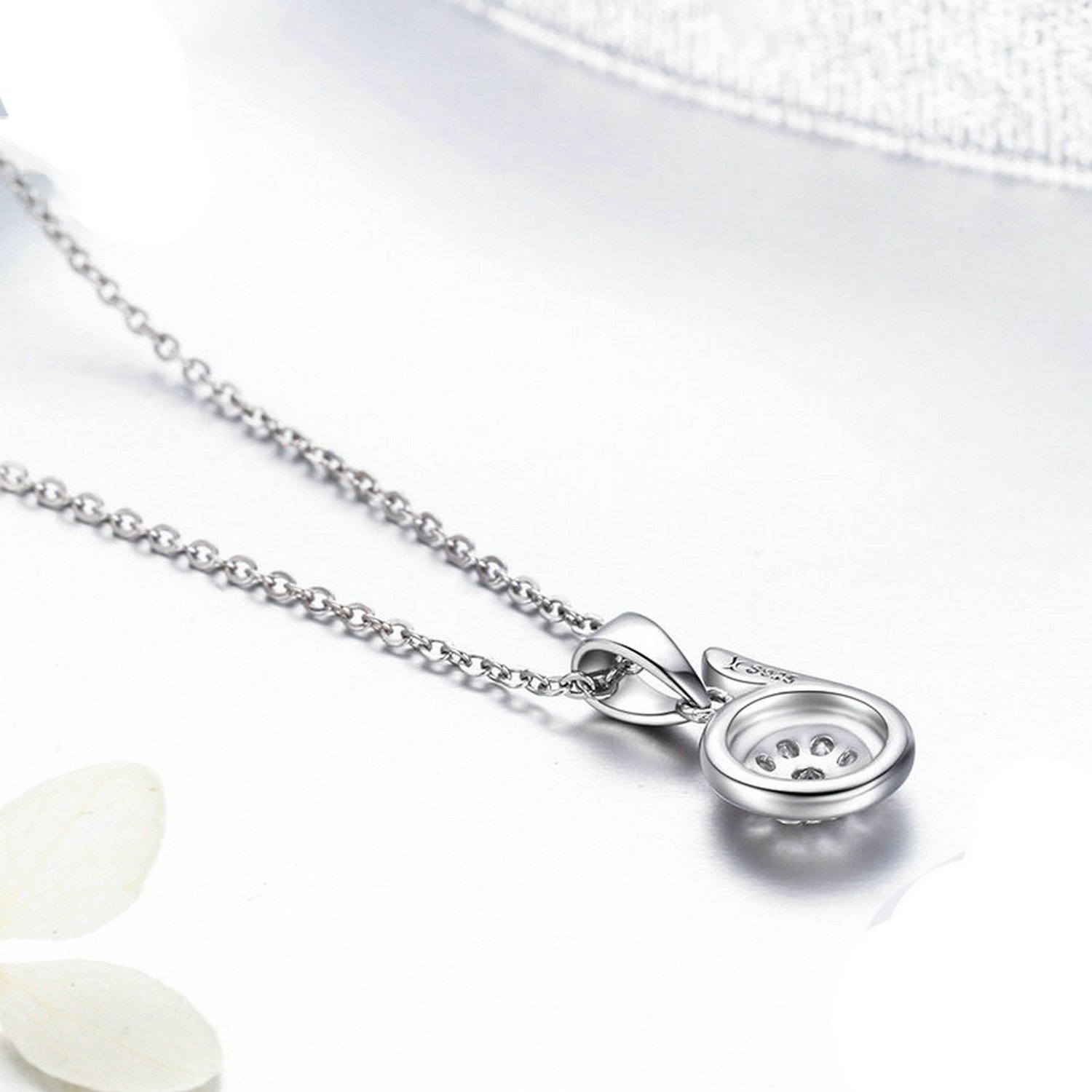 CS-DB Jewelry Silver Crystal Elegant Letter B Chain Charm Pendants Necklaces