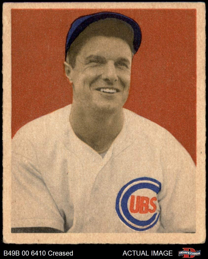 1949 Bowman # 83 NNOF Bob Scheffing Chicago Cubs (Baseball Card) (No Name on Front) Dean's Cards 3 - VG Cubs 71fJ6lVWXcL