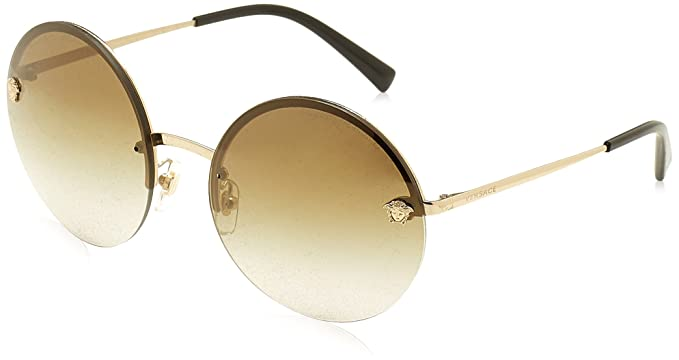 6810a98668c7 Versace Womens Sunglasses Gold Gold Metal - Non-Polarized - 59mm