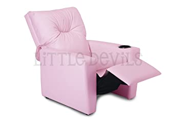 Sillón reclinable para niños, de polipiel, marca Little Devils Direct