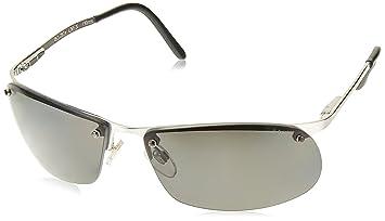 uvex s4100 polarized safety eyewear brushed silver metal frame gray polarized hardcoat lens