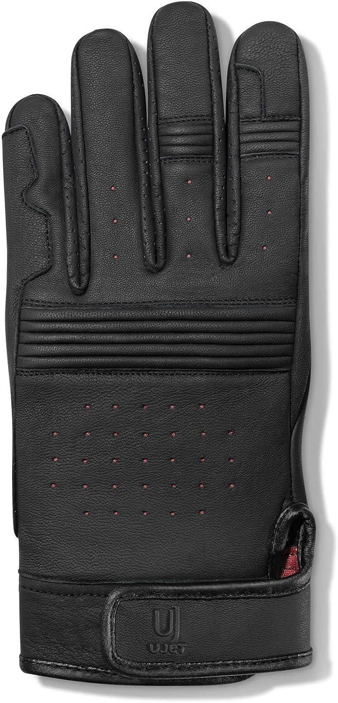 compatibles avec /écran tactile pour scooters et motos gants unisex XL en cuir UJET Gants homme