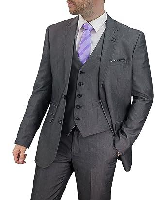 eed83ded8f58 Herren Wollmischung Tweed Blazers Weste Hose 3-tlg. Anzüge By Cavani  Amazon .de  Bekleidung