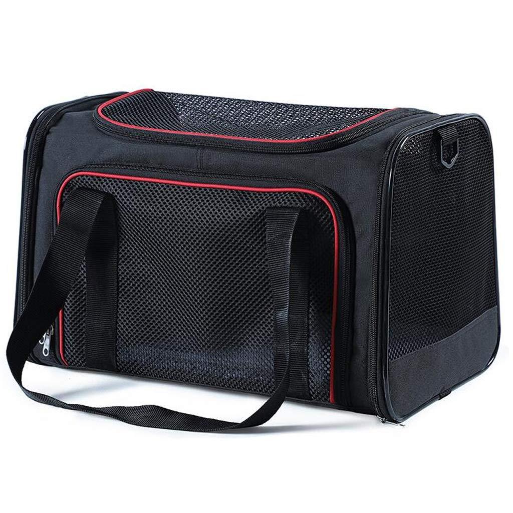Black FJH Cat Bag Out Portable Cat Backpack Cat Bag Cat Out Bag Cat Cage Dog Bag Dog Backpack Pet (color   Black)