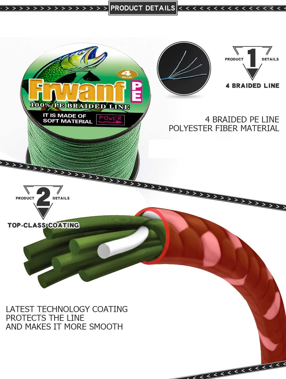 Details about  /100M PE Braided Sea Fishing Line Pulling Force Max F7P4 Fishing Load Strong B1O7