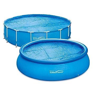 Summer Waves Lámina solar para piscina Calefacción solar Cover Pool, rund - Ø 4,