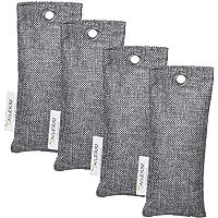 TAILERRI Bamboo Charcoal Air Purifying Bag, Odor Eliminators, Moisture Absorber, Eco Friendly Car Air Purifier, Shoes Deodorizer, Closet Freshener(4 Pack)