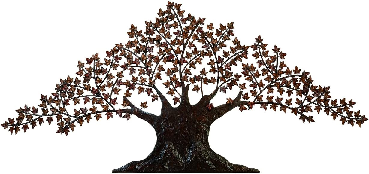 Amazon Com Urban Designs Handcrafted Tree Of Life Large Metal Wall Art Decor 7 Brown Home Kitchen
