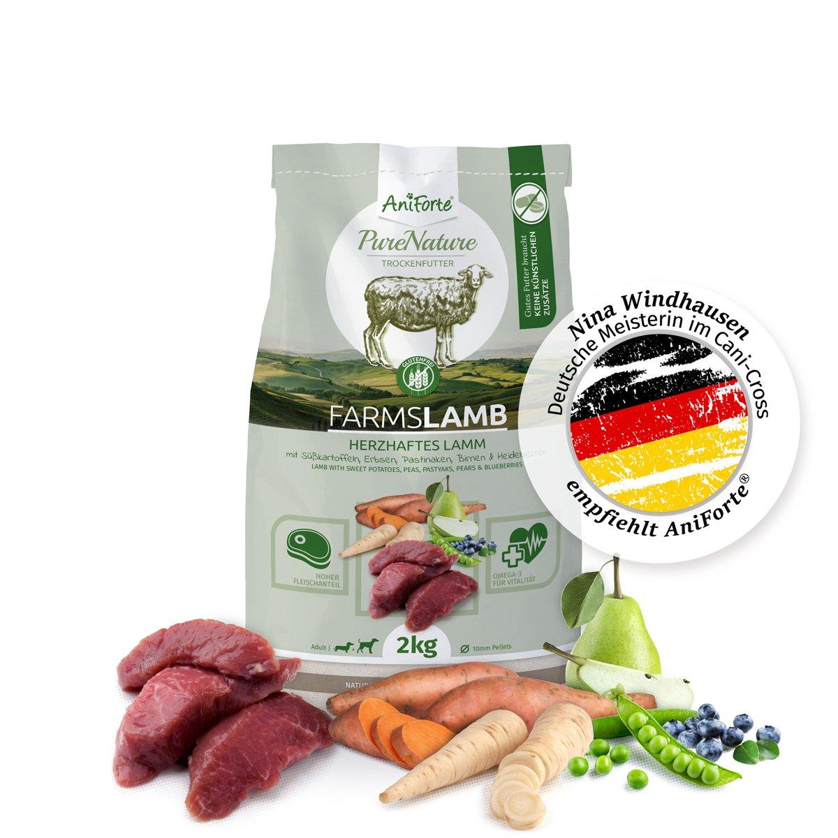 Pienso para Perros 100% Natural - Cordero con Batata | Sin Cereales, Gluten ni Productos Químicos | AniForte: Amazon.es: Productos para mascotas