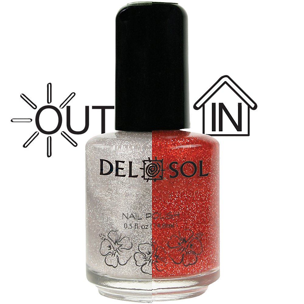 Amazon.com : Del Sol - Color Changing Nail Polish - Ruby Slipper : Light Changing Nail Polish : Beauty