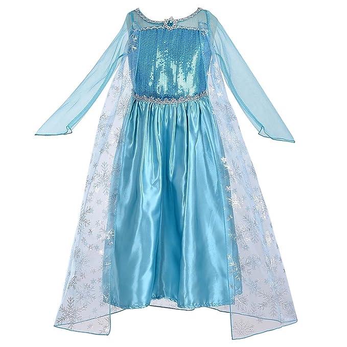 HAWEE Princesa Disfraz Disfraz Traje de Elsa Princesa Frozen ...