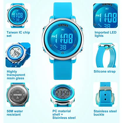 6fb98610182 ... MSVEW Kids Digital Watch for Boys Girls -Waterproof Sports Watch with  Alarm Stopwatch Outdoor Childrens ...