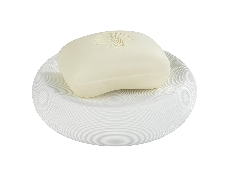 WENKO 22898100 Porte savon Goa Polyr/ésine blanc 12,8  x 3,1 cm