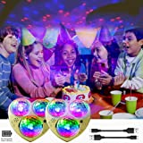KisMee LED Starry Lights Built-in Battery,Sound Activeated Star Party Light 7 Modes RGB Disco Ball Magnet Fixed for…