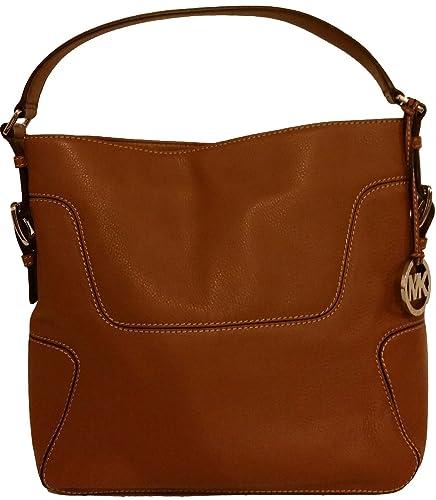 88e961f681 Michael Kors Brookville Large Brown Leather Shoulder Bag  Handbags   Amazon.com