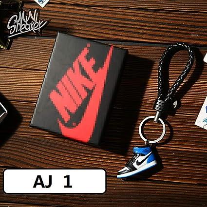 14905e8cc1098 Fashion Mini Sneaker 3D Keychain Figure AJ1-20【1:6】 with Box for Christmas  Gift